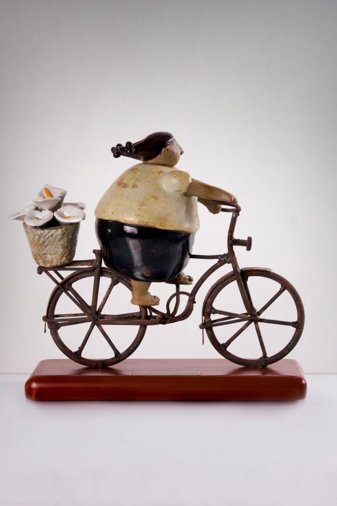 Florista Mujer en Bici