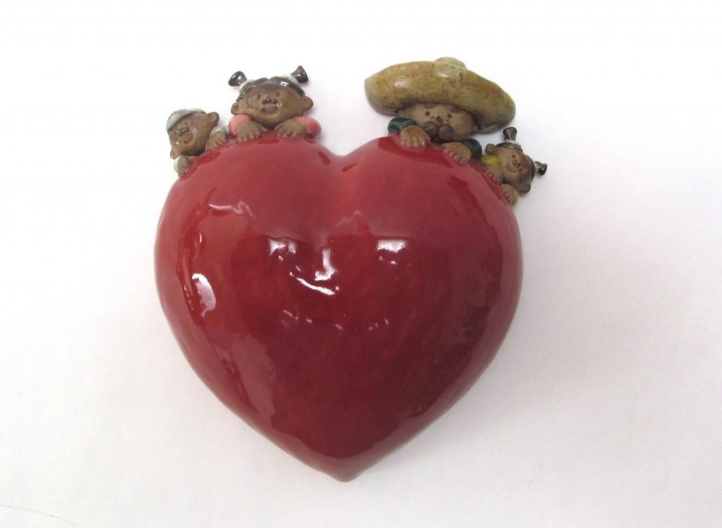 Familia Corazón pared